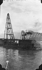 Construction of Westham Island Bridge