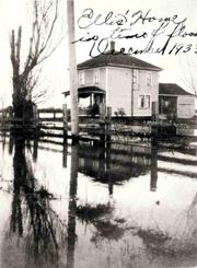 Ellis Farmhouse in flood Dec 1933